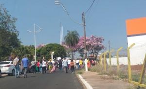 Manifestação no Antônio Zanaga